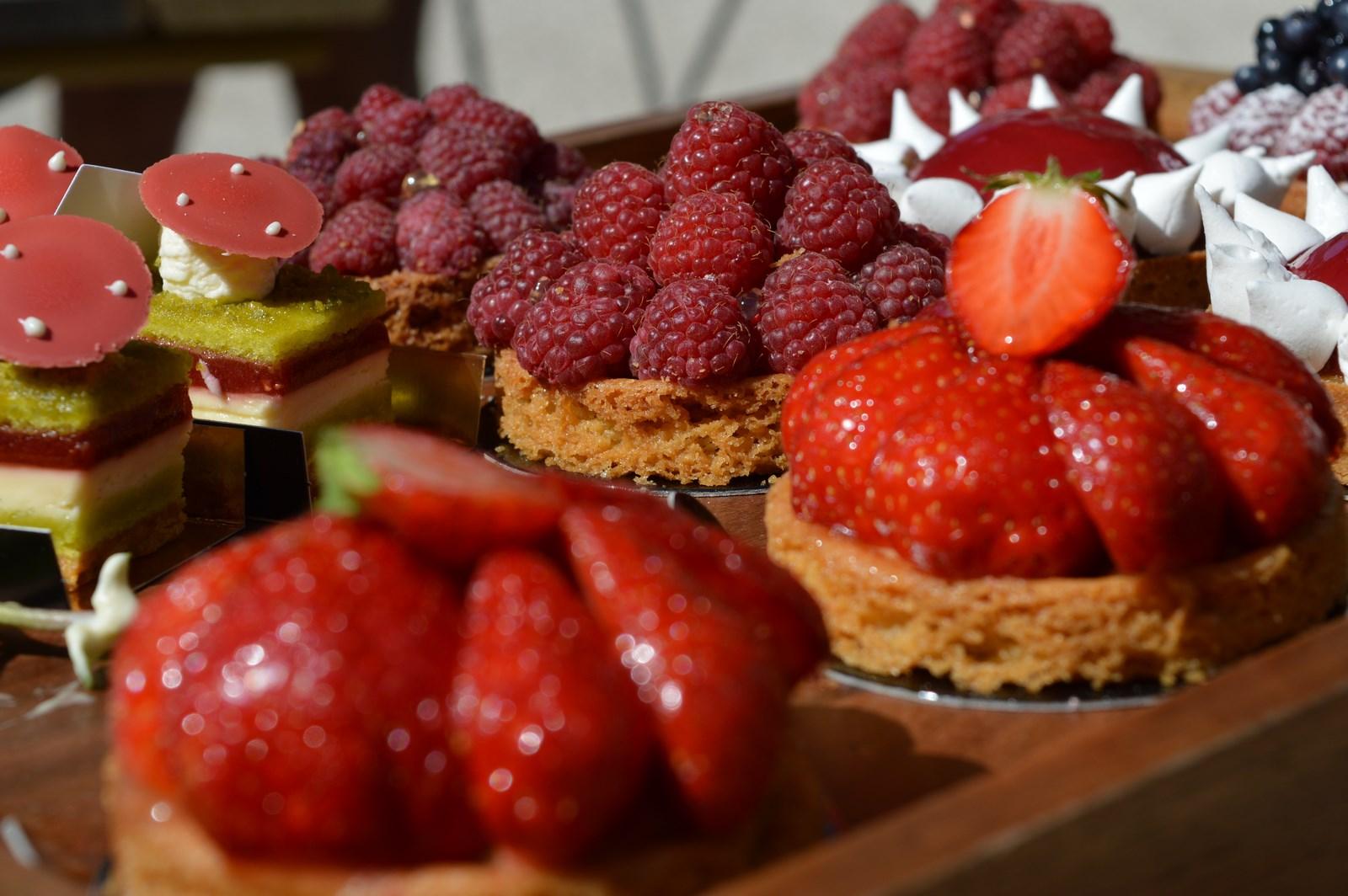 Des desserts aux fruits rouges
